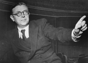 J.P. Sartre when he refused the Nobel Prize